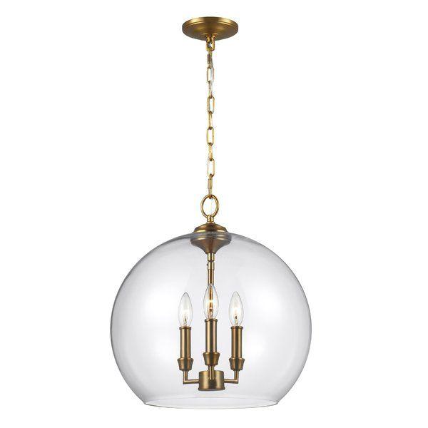 Chilcott 3 Light Unique Statement Globe Pendant Glass Globe Pendant Globe Pendant Globe Lights