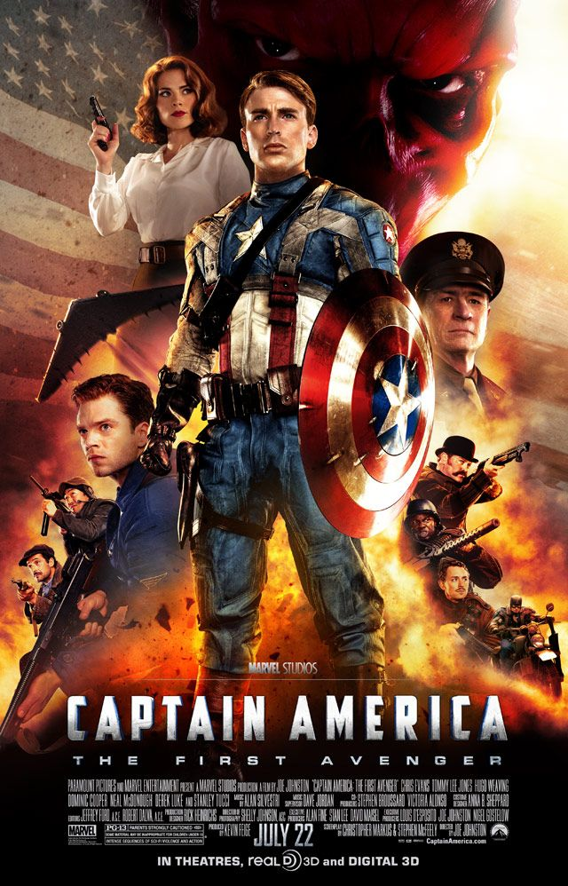Final Poster For Captain America The First Avenger News Geektyrant Captain America Film Avengers Filme Superhelden Filme