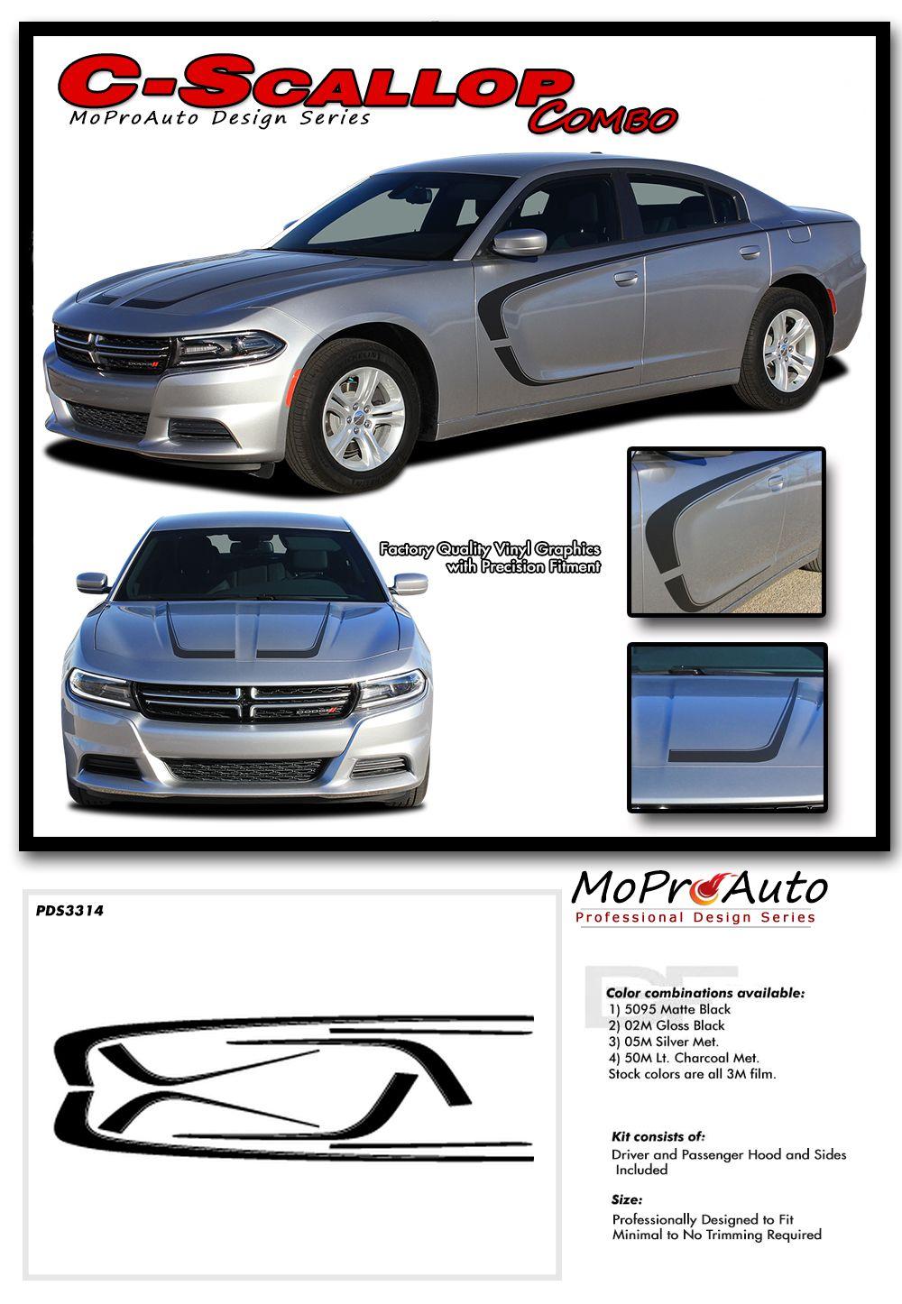 2X Dodge Charger Daytona 392 Rocker Panel decals Stripe Vinyl Graphics 2011-2018