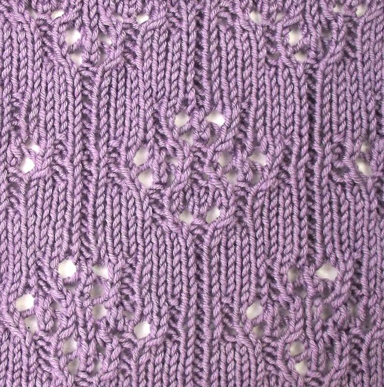 Japanese Florets An Easy To Work Eyelet Pattern Found In The