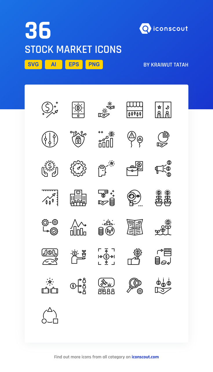 Download Stock Market Icon Pack Available In Svg Png Eps Ai Icon Fonts Stock Market Icon Marketing