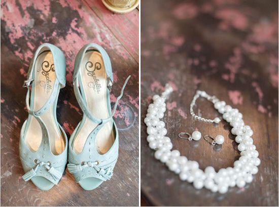 Light Blue Something Wedding Shoes 1