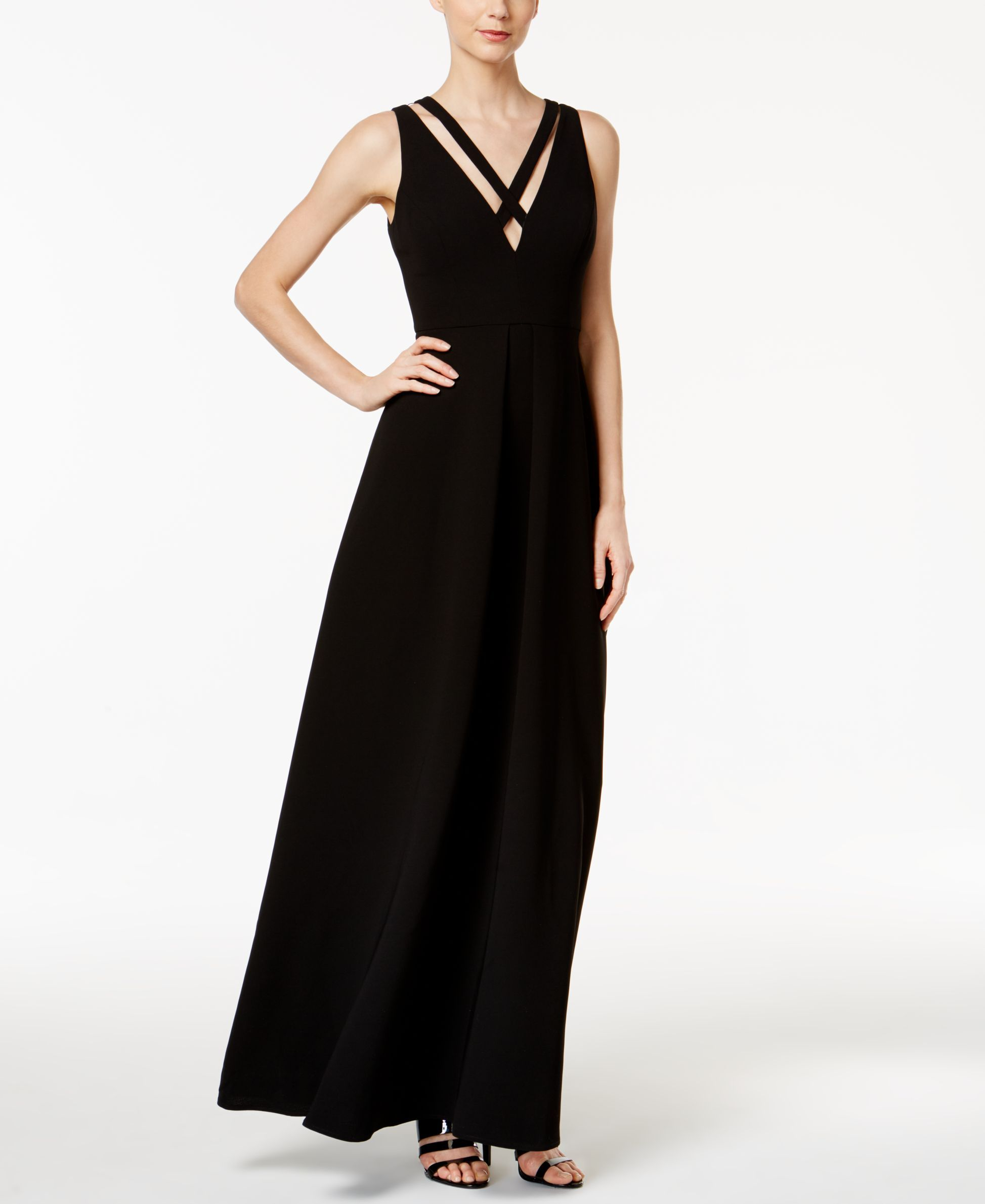 Calvin klein strappy xfront vback gown products pinterest