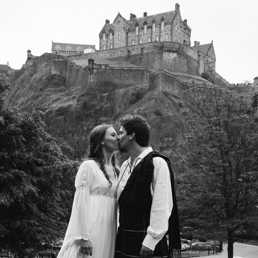 Wedding Photographs In Edinburgh For Ingrid Machado And Her Husband Rafael During Their Grand European Tour By Brian Wilson Scottish Photographer