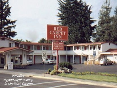The Red Carpet Inn in Medford, OR offers a good night's sleep and plenty of Pacific hospitality.