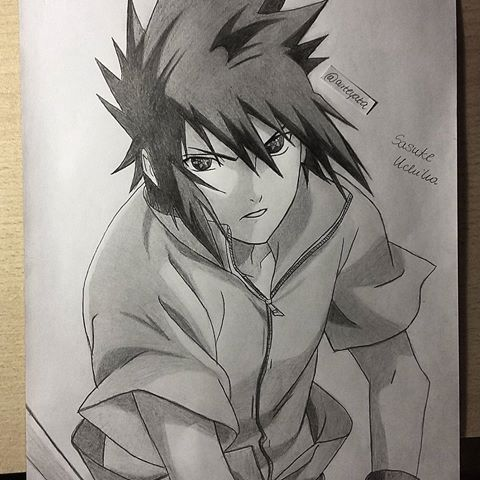 My drawing of sasuke uchiha naruto hope you like it make sure to follow