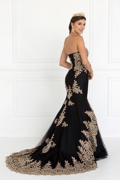 Gold embroidery prom dress gls2428   atemberaubende Kleider ...