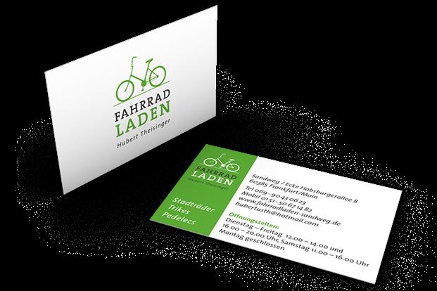 Fahrradladen Visitenkarte Logo Design Corporate Design