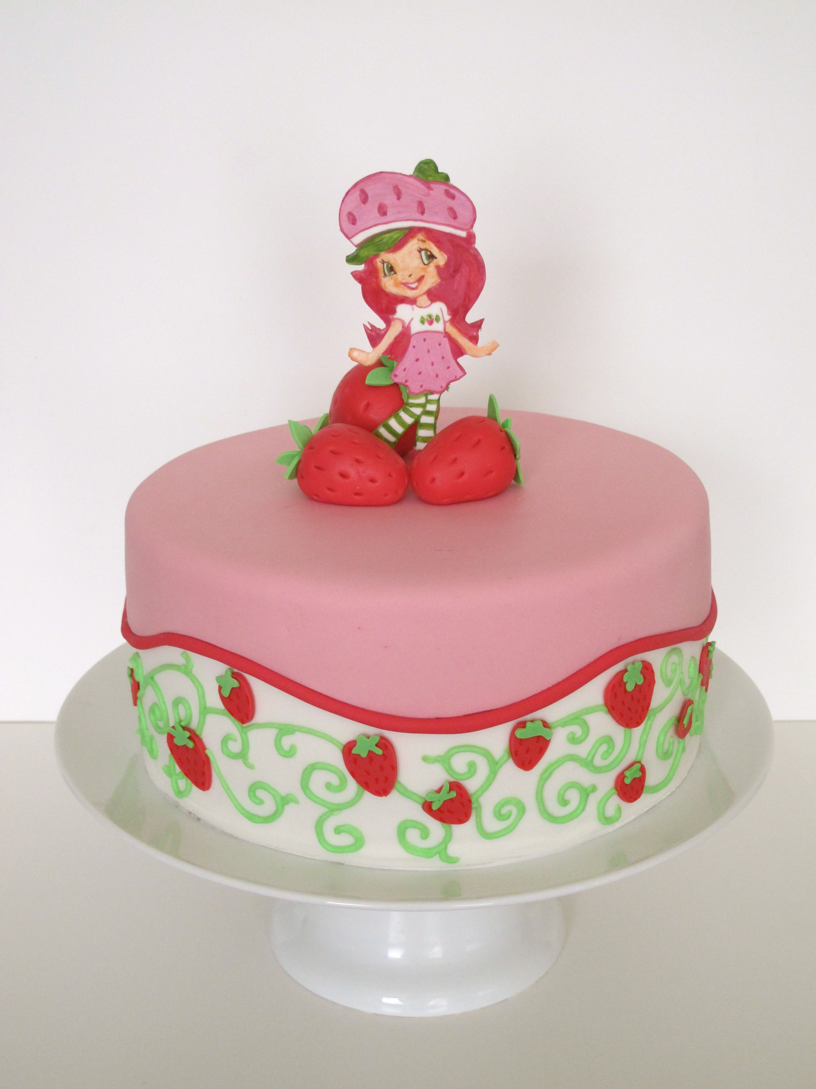 Terrific Strawberry Shortcake Cake With Images Strawberry Shortcake Personalised Birthday Cards Veneteletsinfo