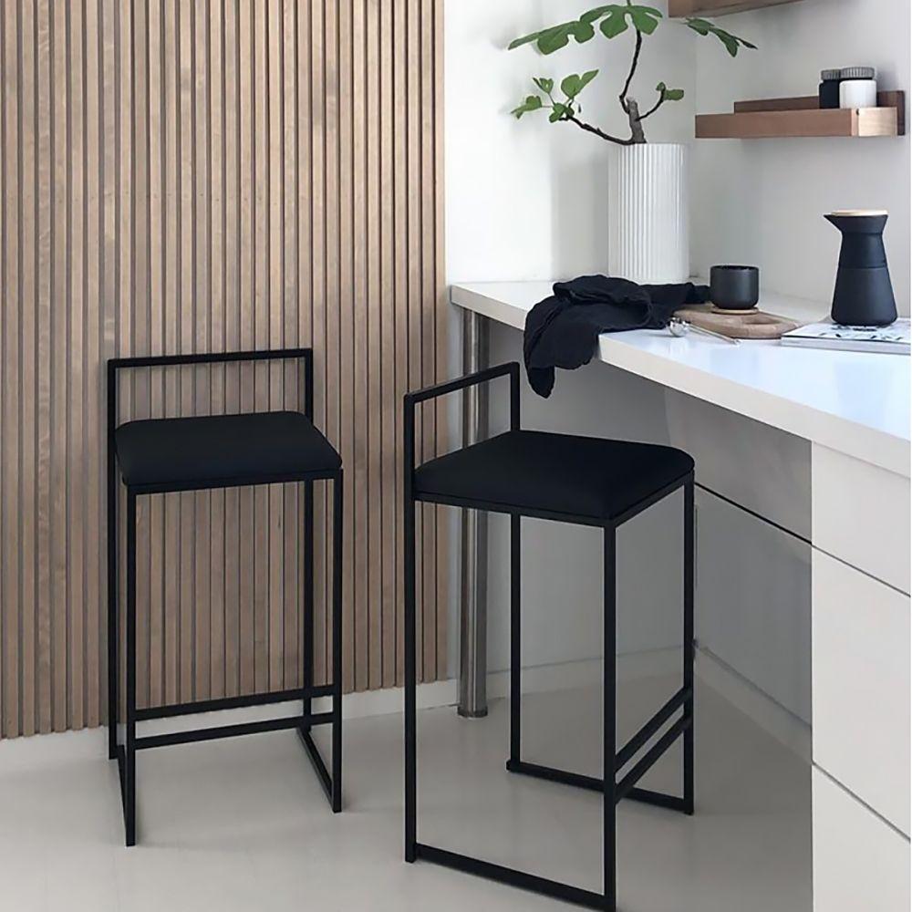 Modern Upholstered Black Velvet 26