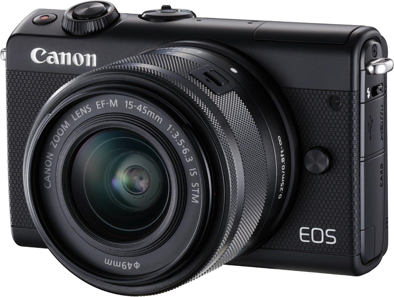 Canon Eos M100 Kit 15 45mm Digitale Systemkamera Schwarz Kamera Technik Systemkamera Kamera Kameras