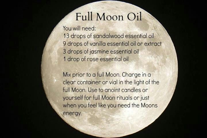 Full moon ritual oil -or even if energy is needed   This