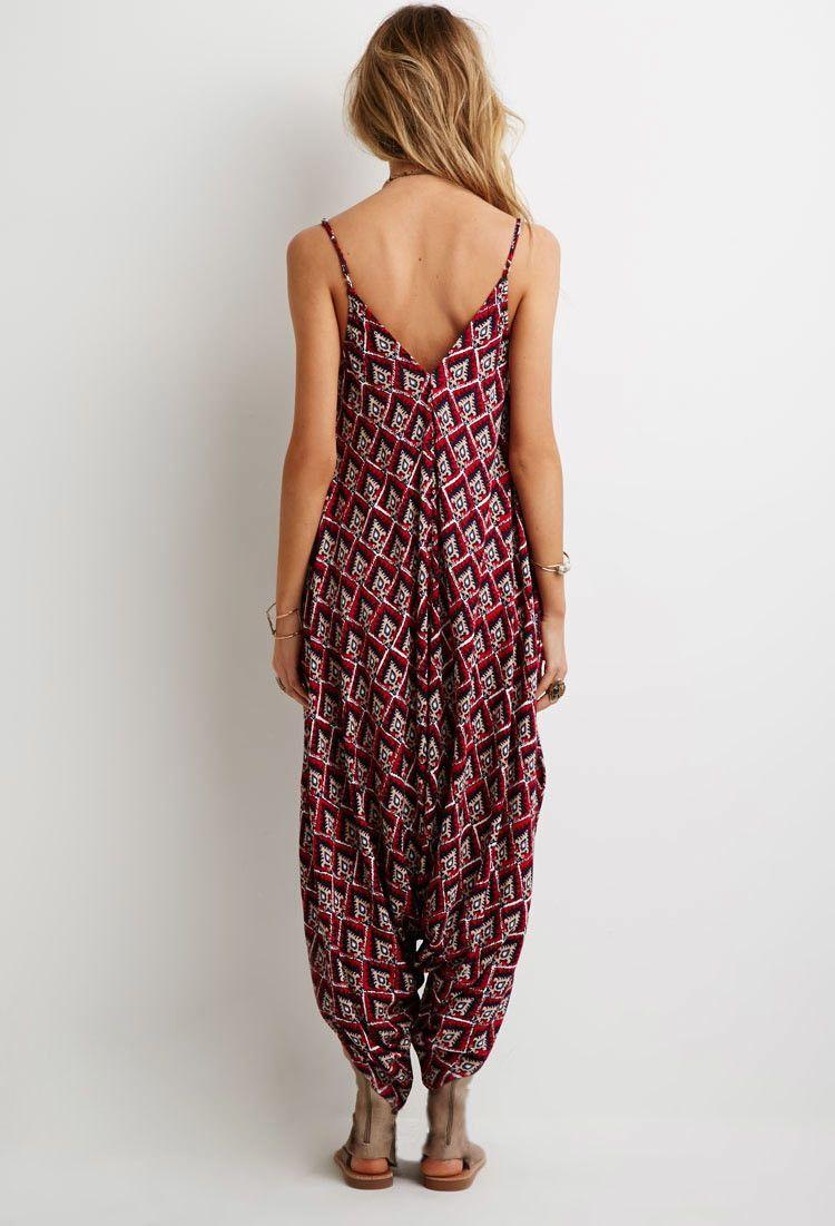 Ornate Print Harem Jumpsuit | Forever 21 - 2000133166