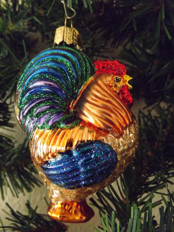 Vintage Old World Christmas Ornament Rooster Owc Rooster Old World Christmas Ornaments Old World Christmas Christmas Ornaments