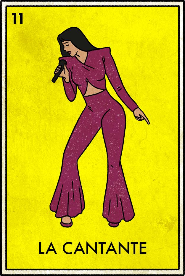 La Cantante Loteria Cards Selena Quintanilla Latino Art
