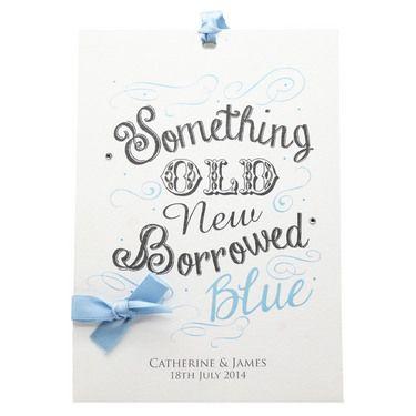 Something Old New Borrowed Blue Wedding Invitation