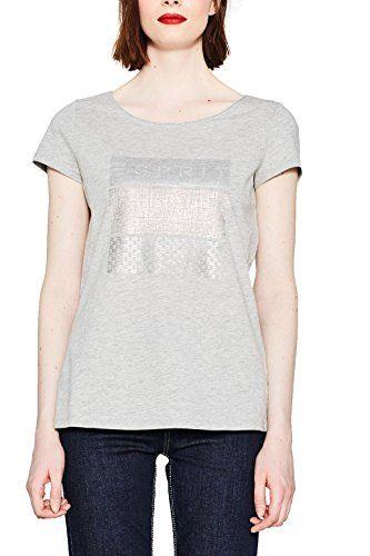 More & More T-Shirt, Camiseta para Mujer, Gris Oscuro, ES 38 (DE 36)