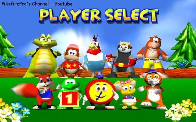And A Bunch Of Other Virtual Characters Diddy Kong Racing