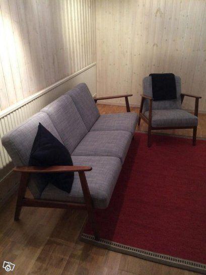 Ekenäset soffa och fåtölj Göteborg Möbler inredning Pinterest Ikea