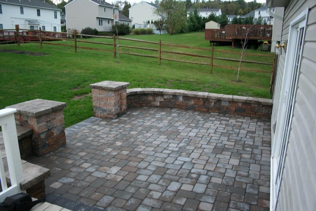 EP Henry Old Towne Cobble Paver Patio From Willow Gates WOOD - Ep henry patio
