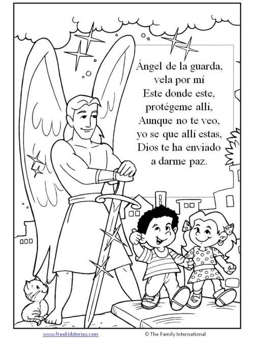 Angel de la Guardia | children\'s coloring pages - paginas para ...