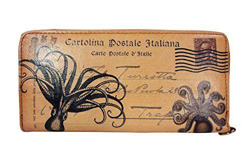 Vintage Post Card PAR Avion Toilers of the Sea Octopus Wristlet Wallet w/ Gift Box, http://smile.amazon.com/dp/B00LMHECKY/ref=cm_sw_r_pi_awdm_nJFavb0Q3SFT2