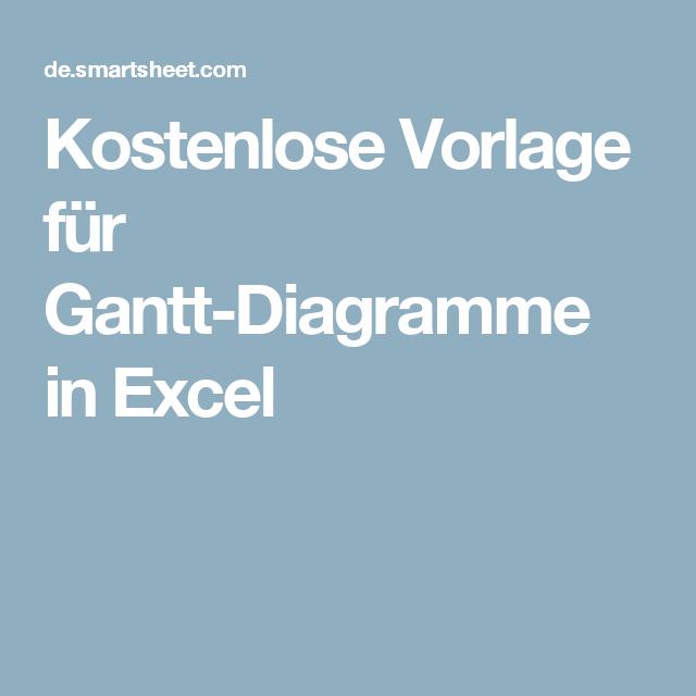 Kostenlose Vorlage Fur Gantt Diagramme In Excel Vorlagen Excel Vorlage Diagramm