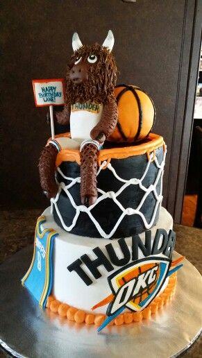 Fine Oklahoma City Thunder Cake Thunder Cake Sweet 16 For Boys Diy Birthday Cards Printable Inklcafe Filternl