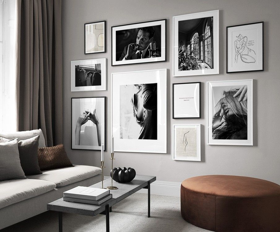 Picture Wall Inspiration Stylish Gallery Walls At Desenio Com Au Inreda Vardagsrum Hem Inredning Interior