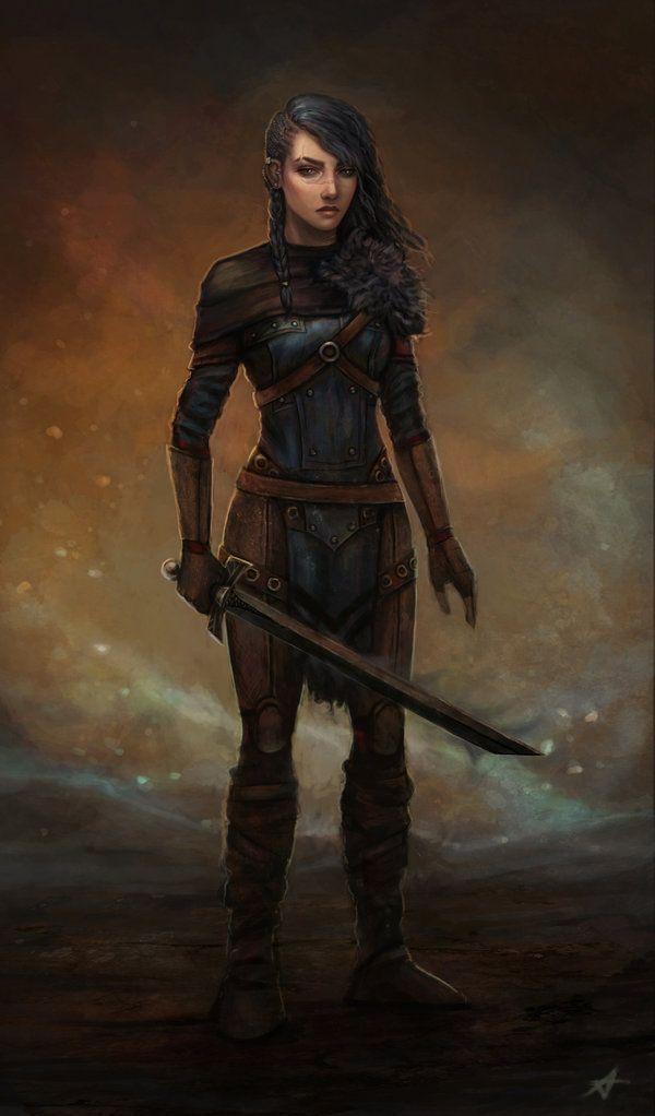 F Half Elf Rogue Thief Studded Leather Cloak Sword 13th Lvl