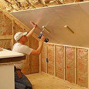 Insulating A Sloped Ceiling With Rigid Foam Insulation Hammerzone Com Attic Renovation Attic Flooring Attic House