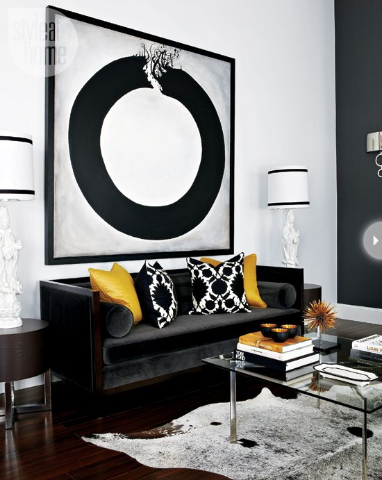 Interiors Hotel Style Glam Style At Home Black And White Living Room Black Living Room Living Room Decor