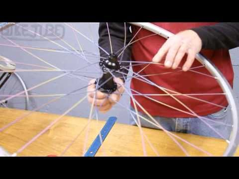 Bicycle Building Maintenance Lacing A Rear 32 Spoke Wheel 3