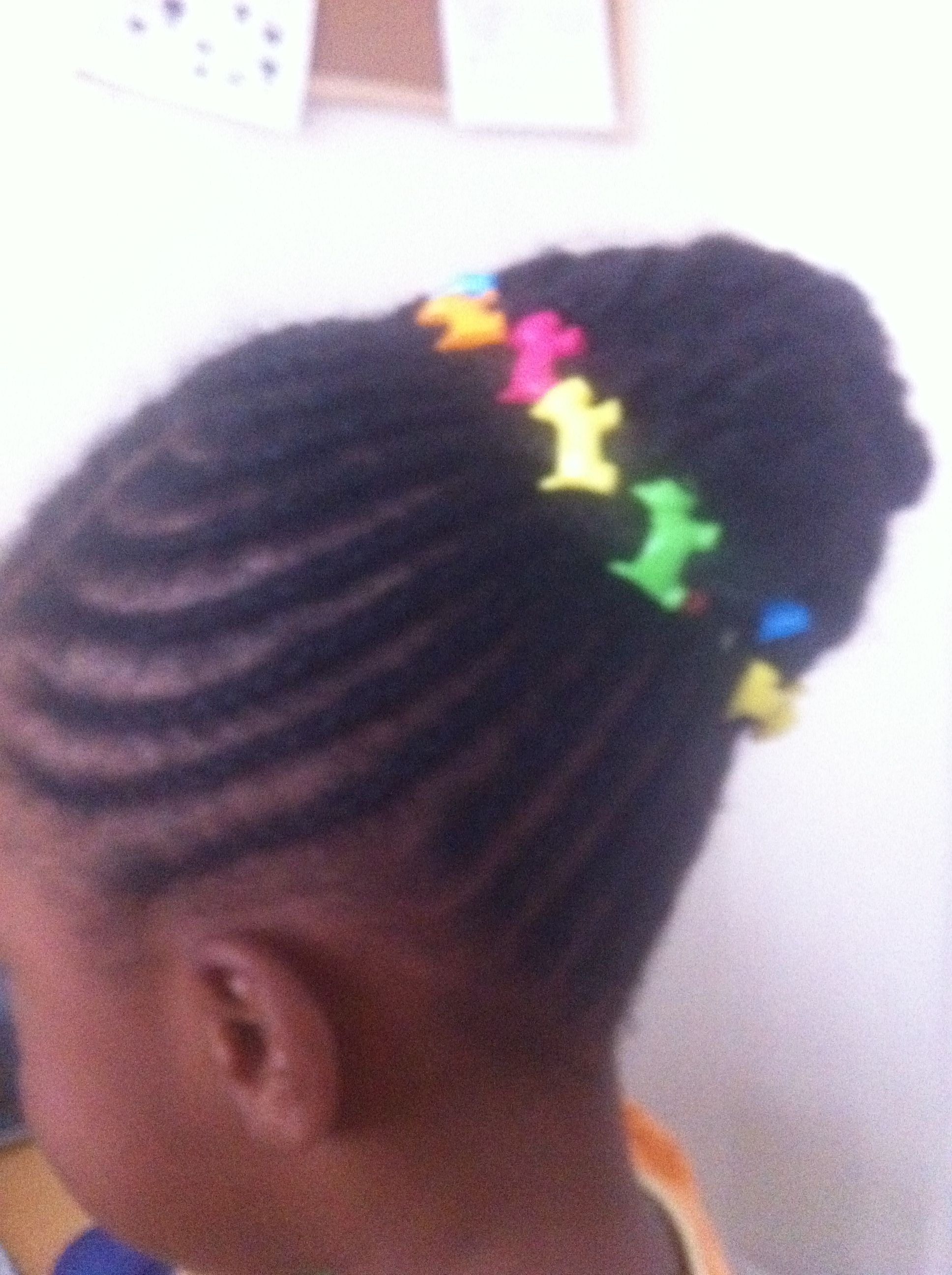 Styled my daughter's hair.
