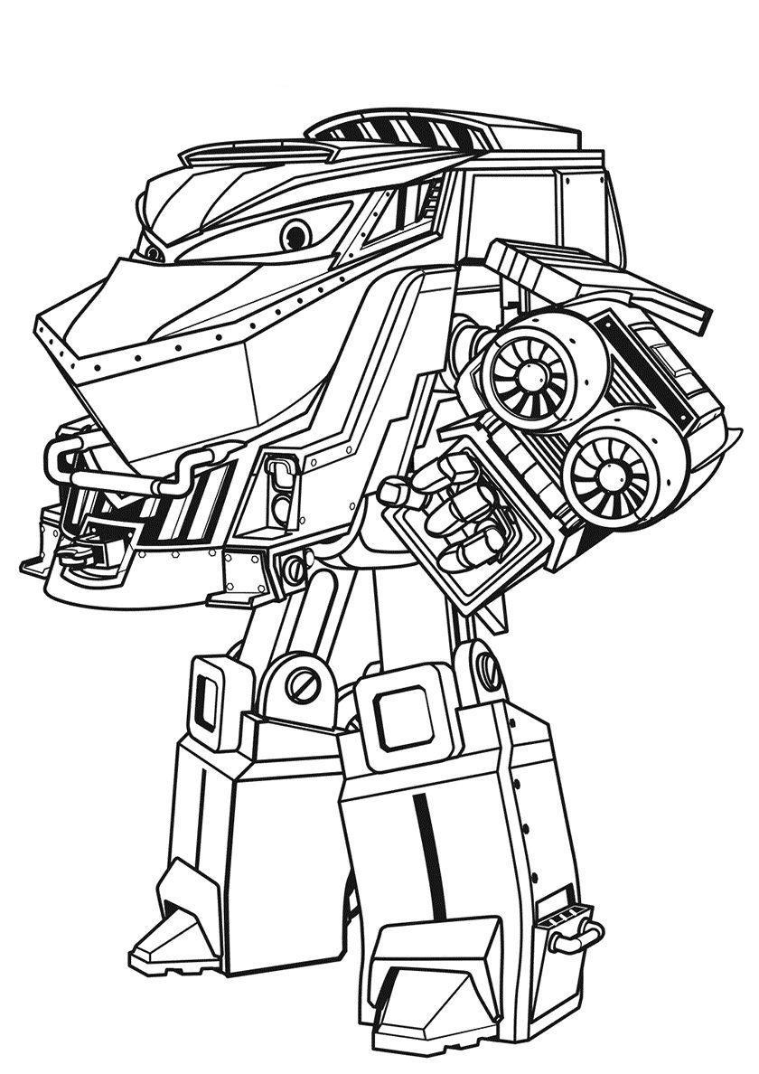 Duke - high-quality free coloring from the category: Robot Trains