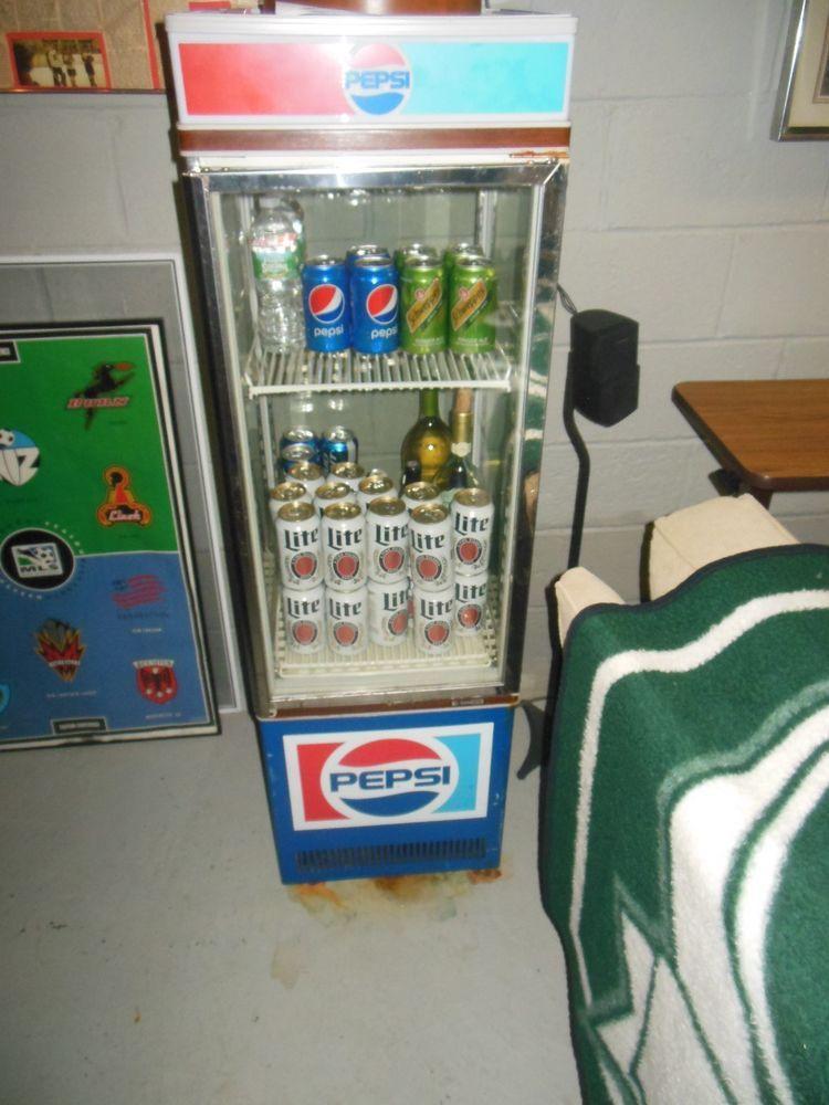 Vintage Pepsi Commercial Refrigerator Merchandiser Cooler -PEPSI ...