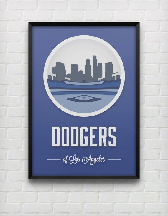 Los Angeles Dodgers Print Etsy Dodgers Los Angeles Dodgers La Dodgers Baseball