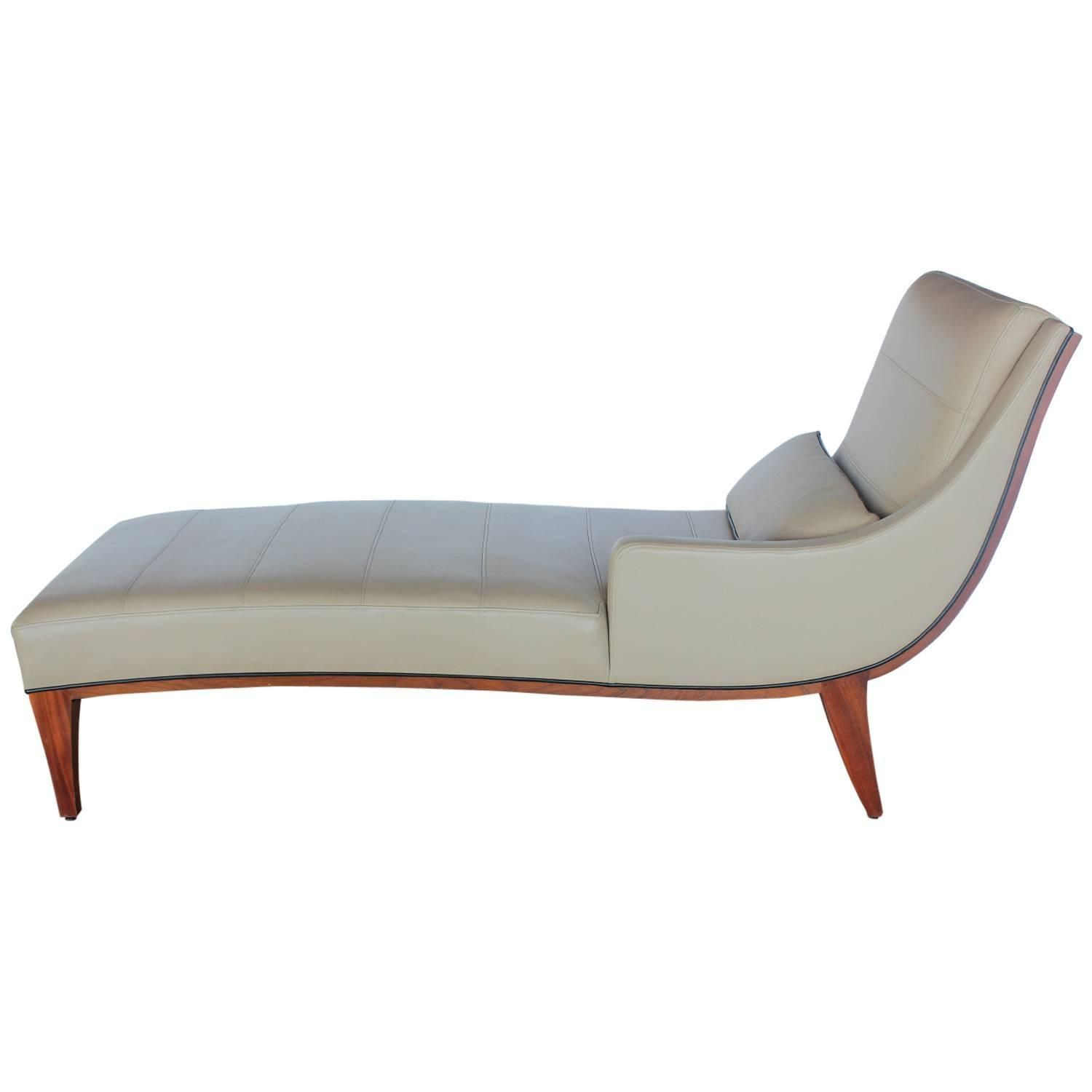 Modern Leather Chaise Lounge By Widdicomb See More Antique And