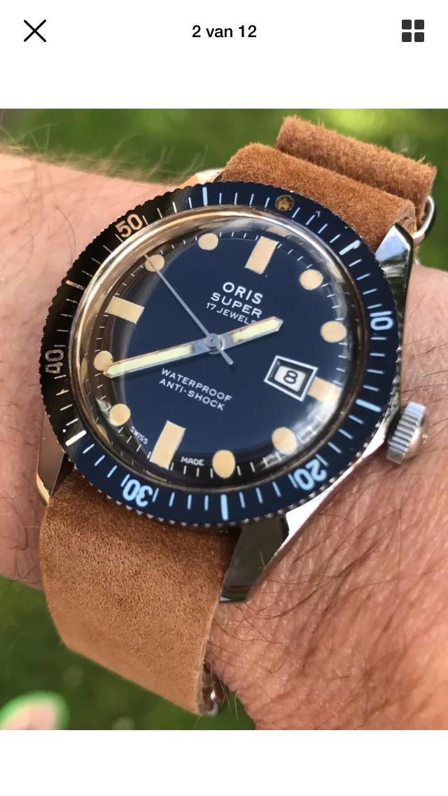 Oris diver 1960, like new!