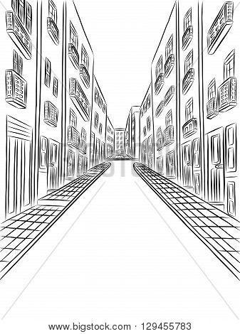 Rezultat Slika Za Drawing Background Buildings Vector Drawing Drawings Stock Illustration