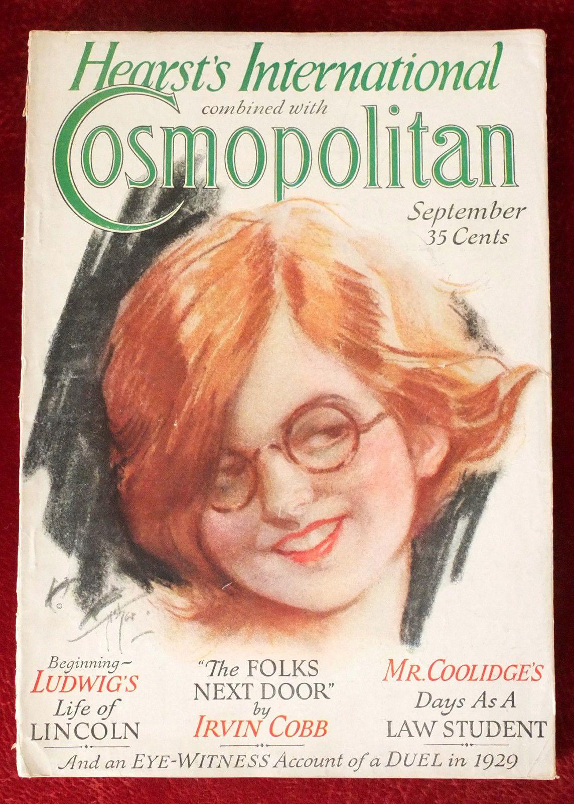 Cosmopolitan magazine september 1929 artist harrison
