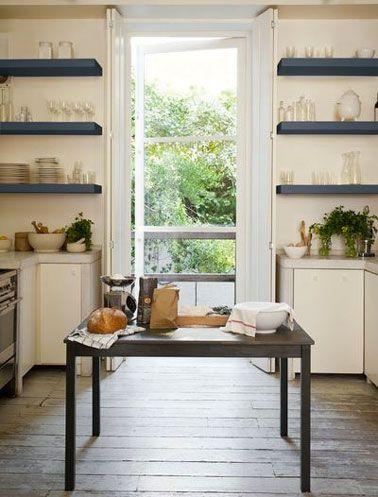 Cuisine peinture Bleu Ardoise et couleur lin Dulux Valentine ...