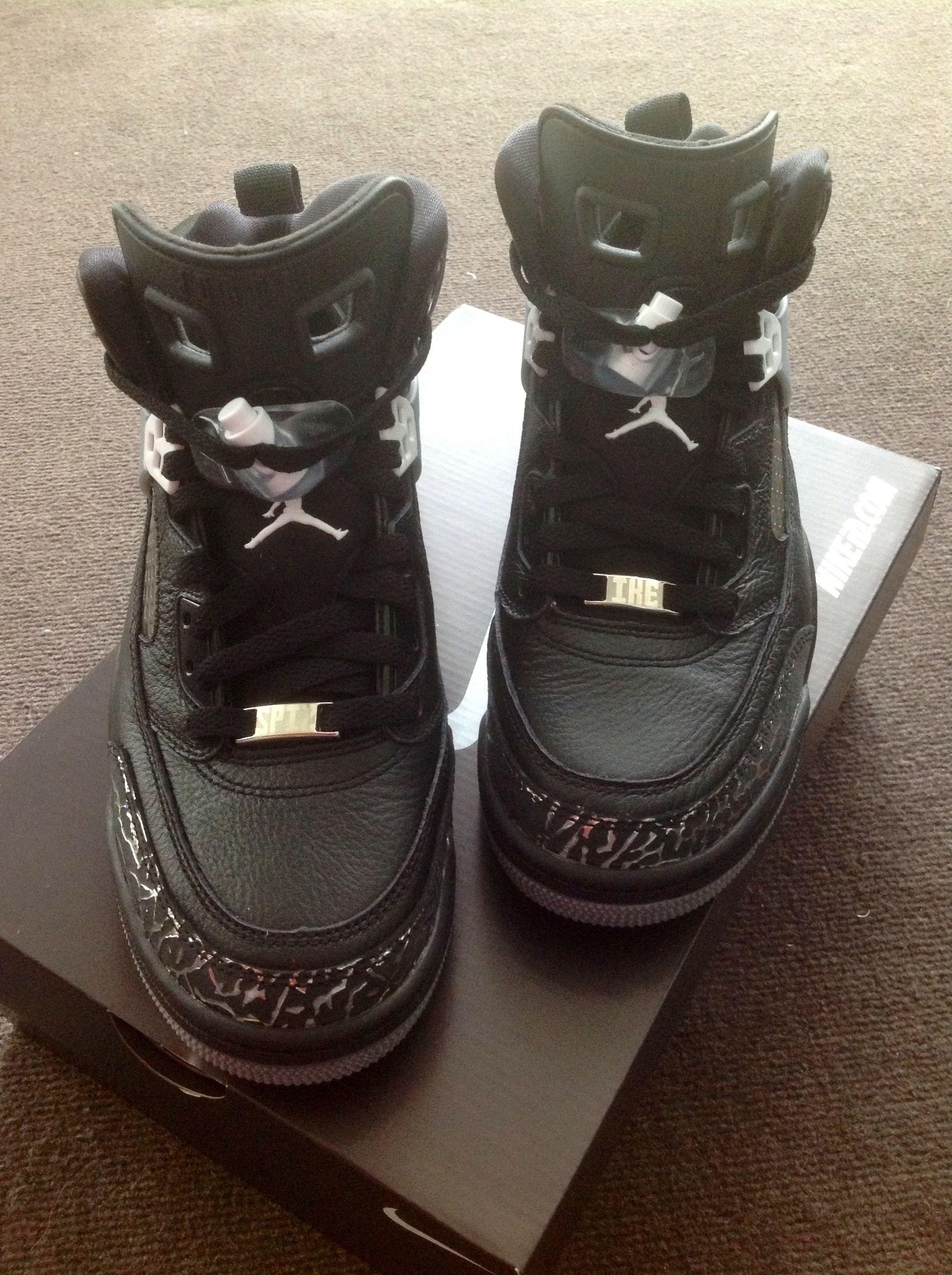 604fbe385d1 NikeID Jordan Spizike (Unboxing)  Nikeid  Jordans  Jumpman  Spizike  Black   Cement  Unboxing