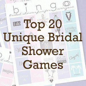 top 20 unique bridal shower games