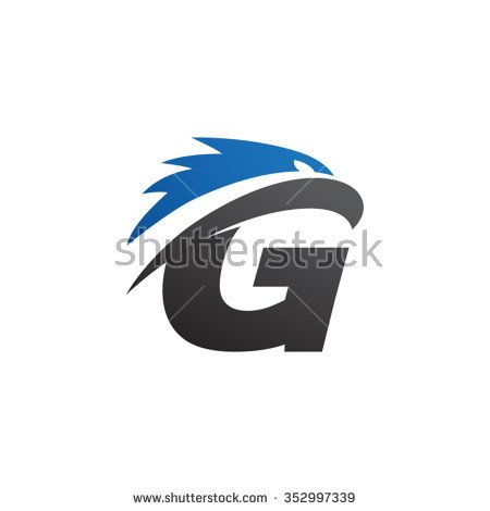 Letter T Eagle Head Silver Gold Stock Vector 352992581 - Shutterstock
