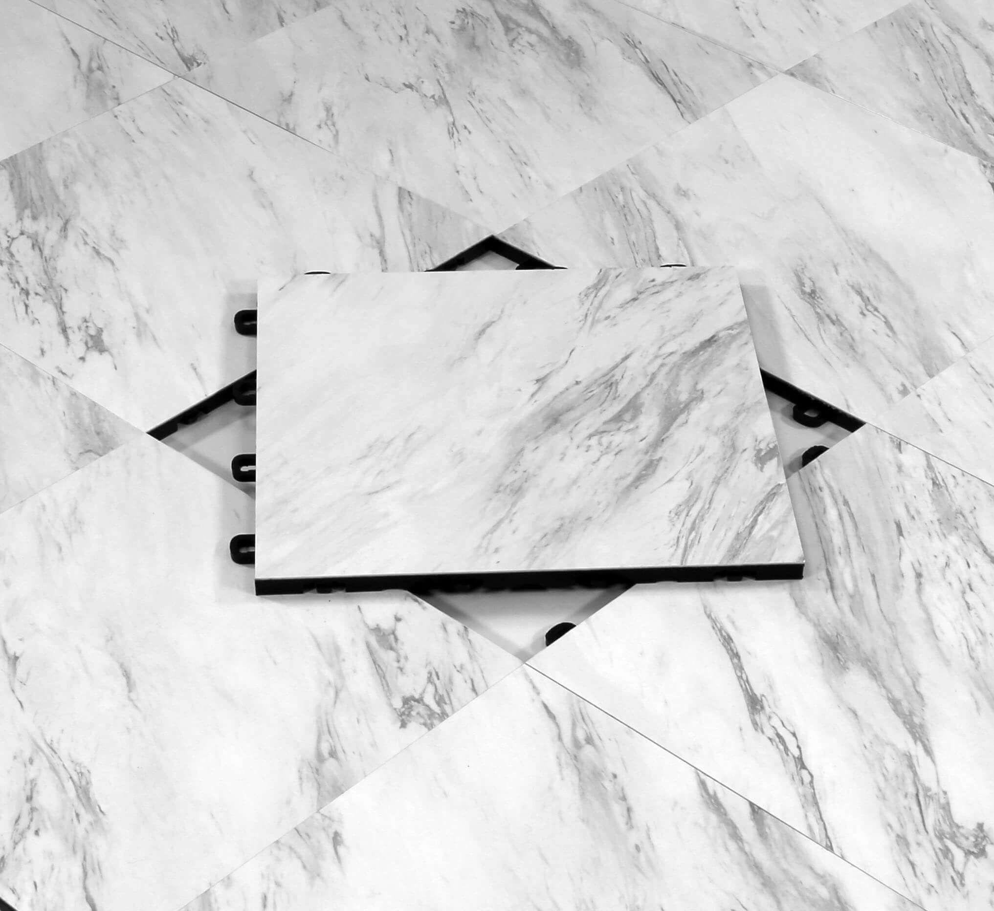 Marble Interlocking Floor Tiles Vinyl Top ModuTile
