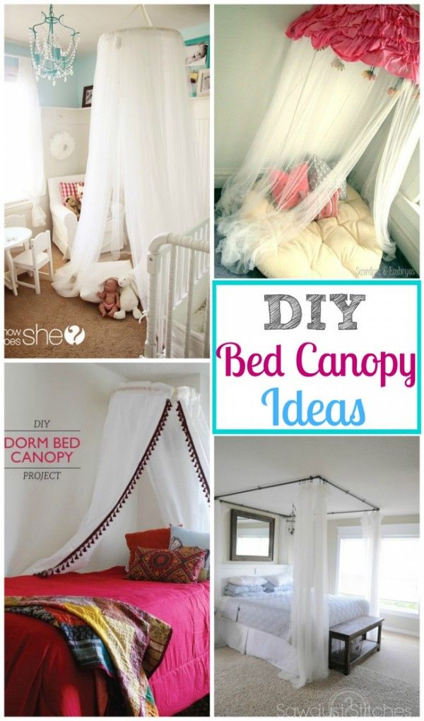 A DIY Bed Canopy Round-Up & A DIY Bed Canopy Round-Up | Canopy Room decor and Room