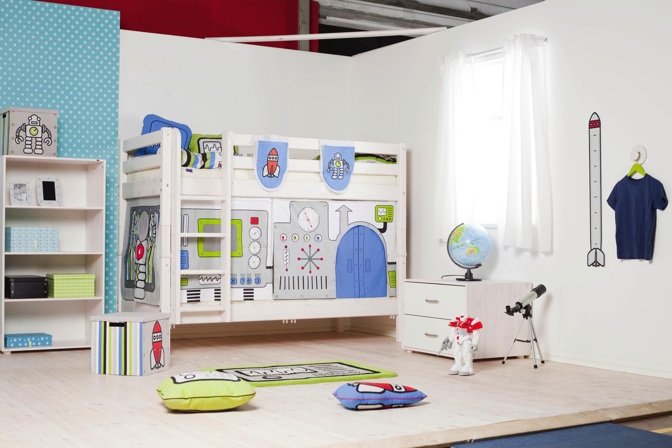 Modernes kinderbett von flexa aus massivem kiefernholz for Kinder und jugendzimmer