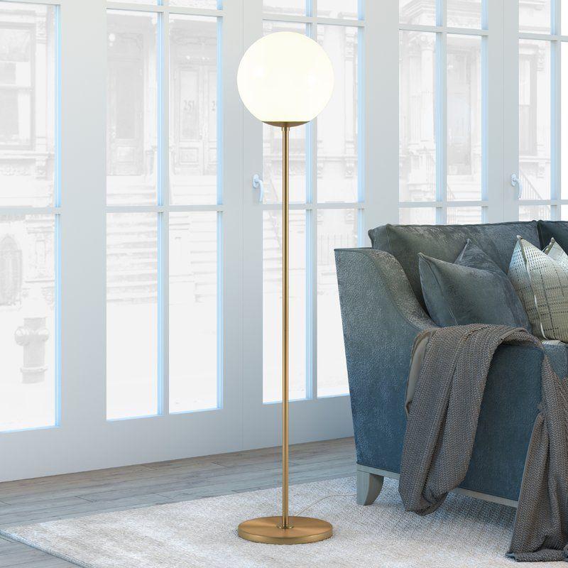 Acton 63 Quot Floor Lamp Amp Reviews Allmodern With Images Floor Lamp Brass Floor Lamp Gold