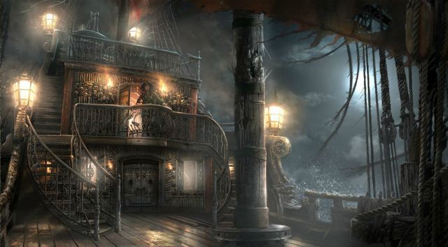 Pirate Ship Cargo Hold Concept Art Google Search Fight